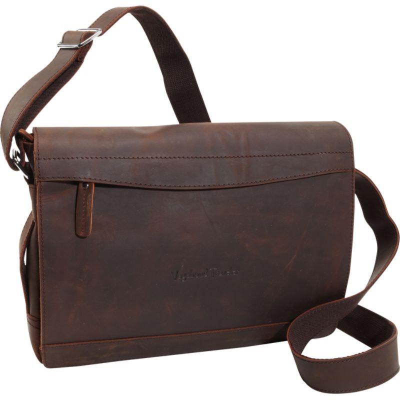 ヴァガボンドトラベラー メンズ ショルダーバッグ バッグ Signature Oil Tanned Leather Messenger Dark Brown