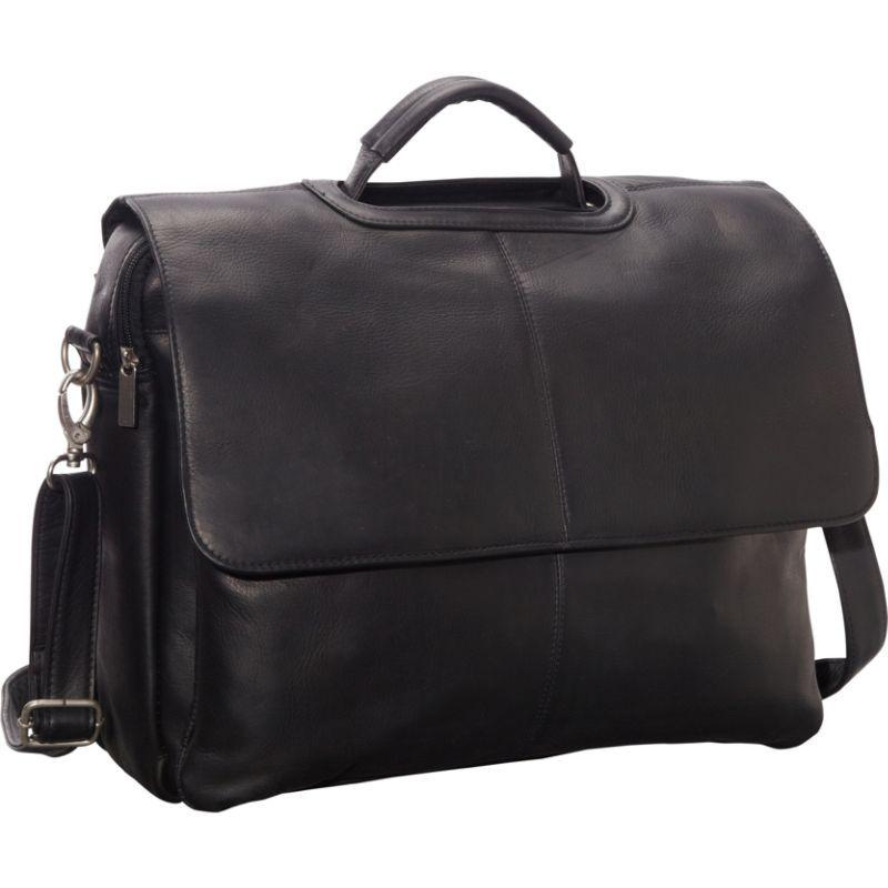 ルドネレザー メンズ スーツケース バッグ Flap Over Computer Brief Black