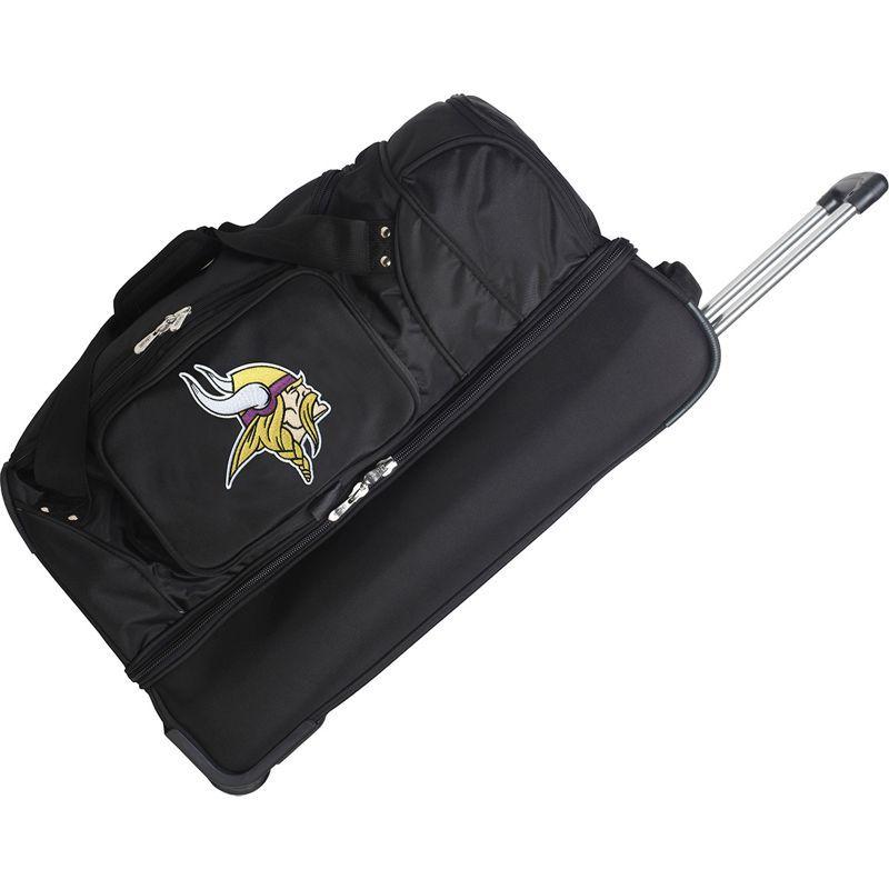 デンコスポーツ メンズ スーツケース バッグ NFL 27 Drop Bottom Wheeled Duffel Bag Minnesota Vikings