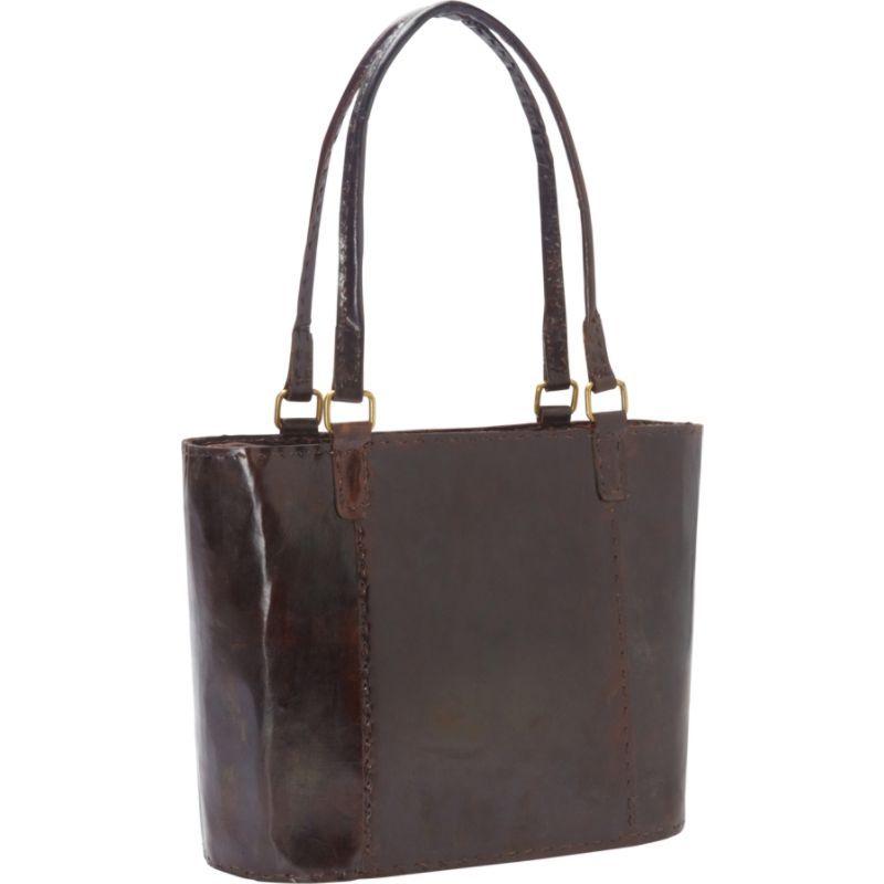 シャロレザーバッグス レディース トートバッグ バッグ Women's Large Leather Rustic Tote Dark Brown