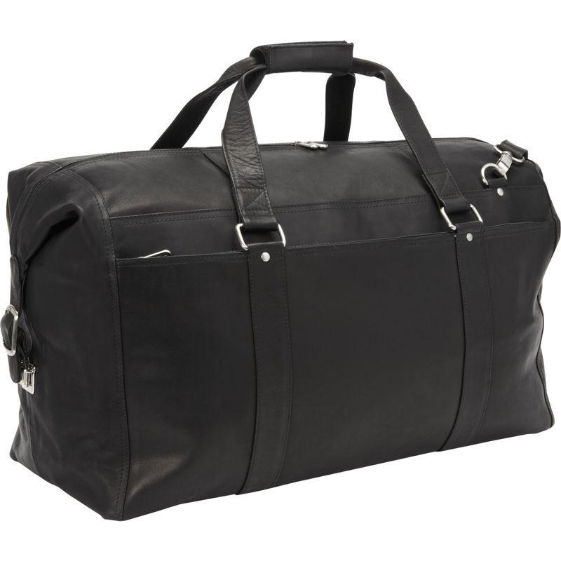 ピエール メンズ スーツケース バッグ Extra Large Zip-Pocket Duffel Black