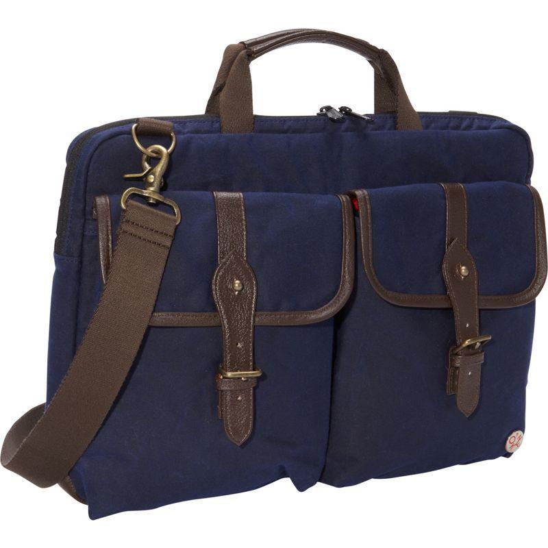 トーケン メンズ スーツケース バッグ Waxed Knickerbocker Laptop Bag (15) Navy/Dark Brown