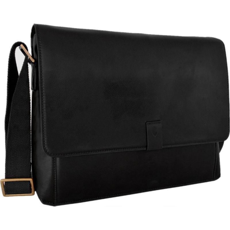ハイデザイン メンズ スーツケース バッグ Aiden Leather Business Laptop Messenger Crossbody Bag Black