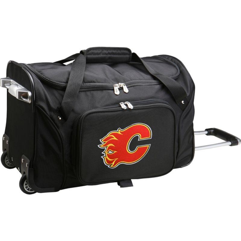 デンコスポーツ メンズ スーツケース バッグ NHL 22 Rolling Duffel Calgary Flames