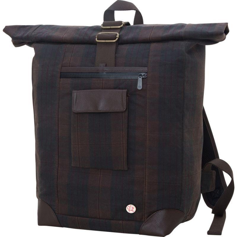 トーケン メンズ スーツケース バッグ Waxed Montrose Backpack Dark Brown Plaid