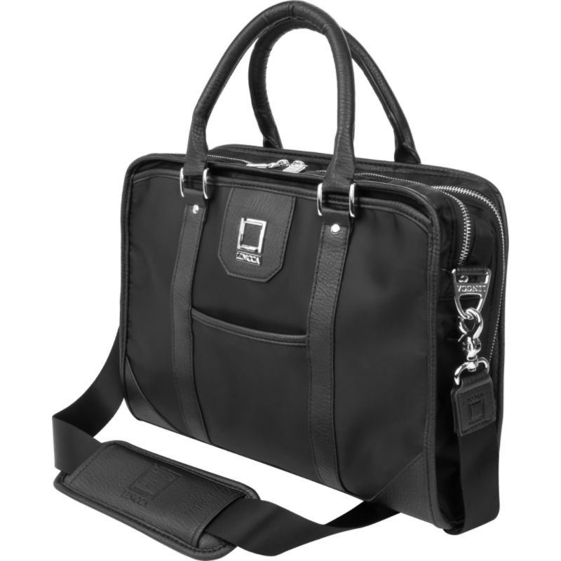 レンッカ メンズ スーツケース バッグ Mitam Briefcase Business Messenger Bag Black