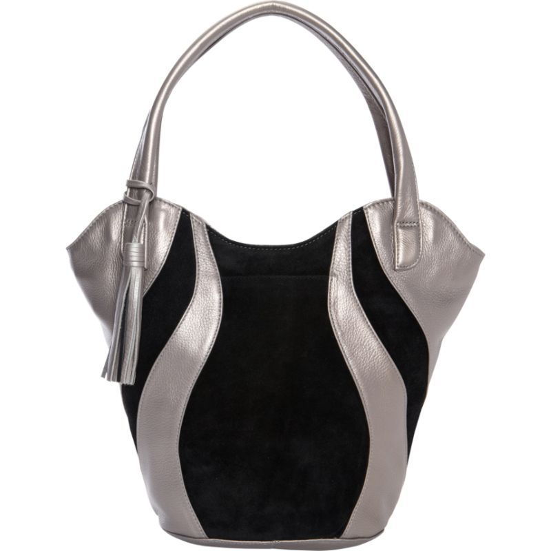 デレクアレクサンダー メンズ ショルダーバッグ バッグ Double Handle Shoulder bag Silver/Black