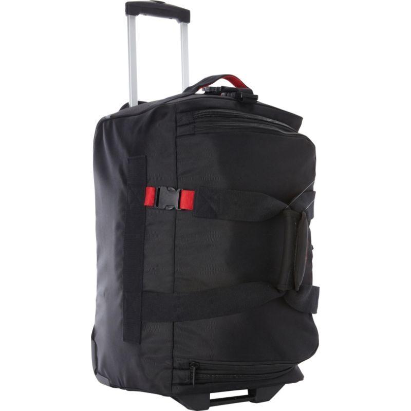 エーサックス メンズ スーツケース バッグ 20 Expandable Carry-On Trolley Duffel Black/Red