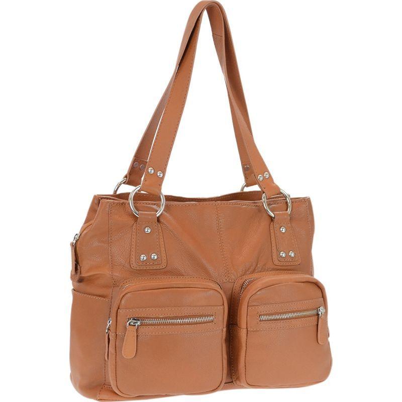 アールアンドアール メンズ トートバッグ バッグ Genuine Leather Triple Compartment Tote Tan