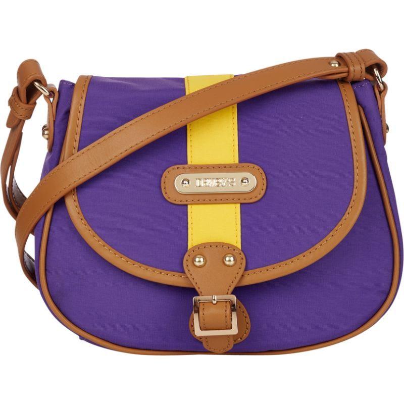ダベイズ メンズ ボディバッグ・ウエストポーチ バッグ Crossbody Stripe Saddlebag Purple/Gold Stripe