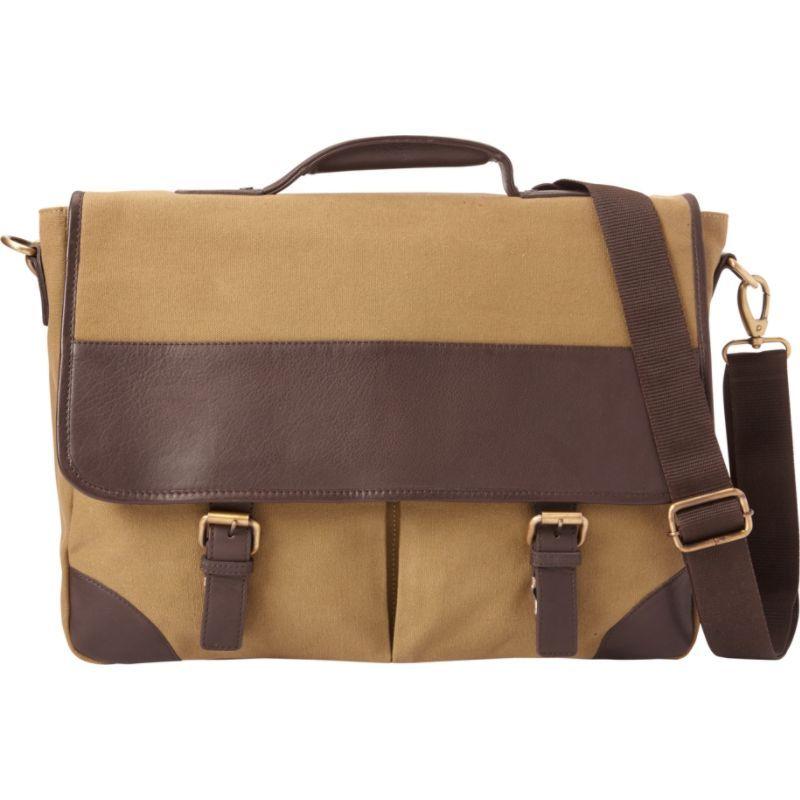 ベリノ メンズ スーツケース バッグ Livingston Leather Briefcase Olive-Brown