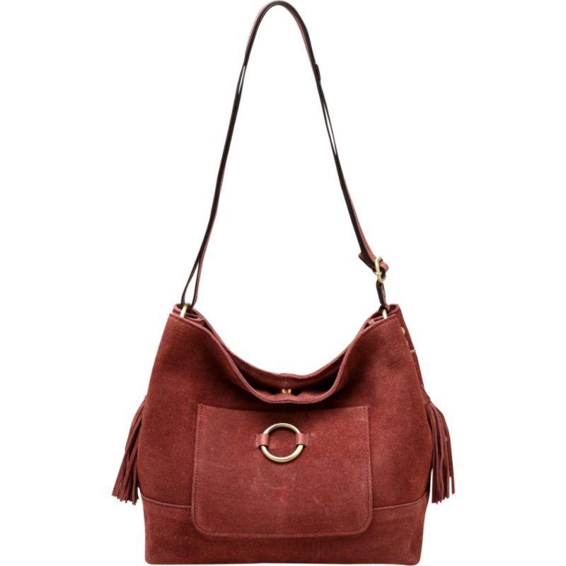 ビンセンゾレザー メンズ ショルダーバッグ バッグ Cammi Suede Leather Handbag Chestnut