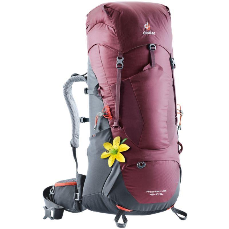 ドイター レディース バックパック・リュックサック バッグ Womens Aircontact Lite 45 + 10 SL Hiking Pack Maroon/Graphite