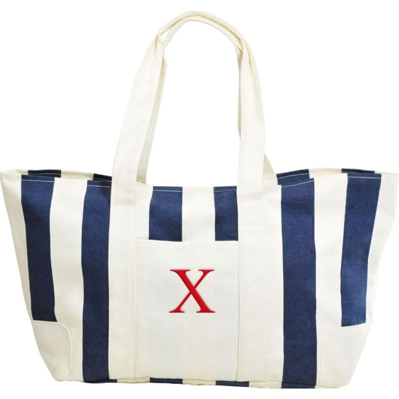 キャシーズ コンセプツ メンズ トートバッグ バッグ Monogram Tote Bag Blue - X