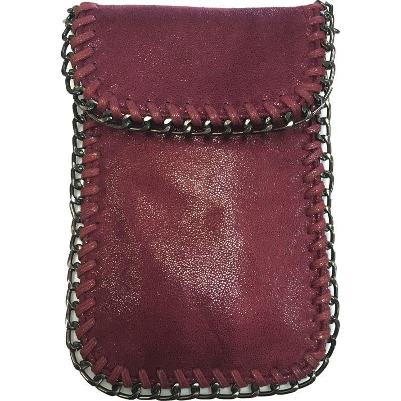 ディオフィ メンズ ボディバッグ・ウエストポーチ バッグ Chain Decor Mini Cell Phone Crossbody Wine