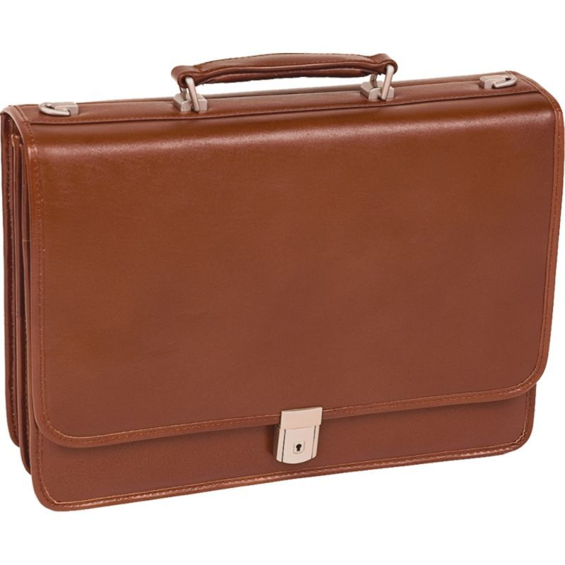 マックレイン メンズ スーツケース バッグ Lexington 15.6 Double Compartment Laptop Case Brown