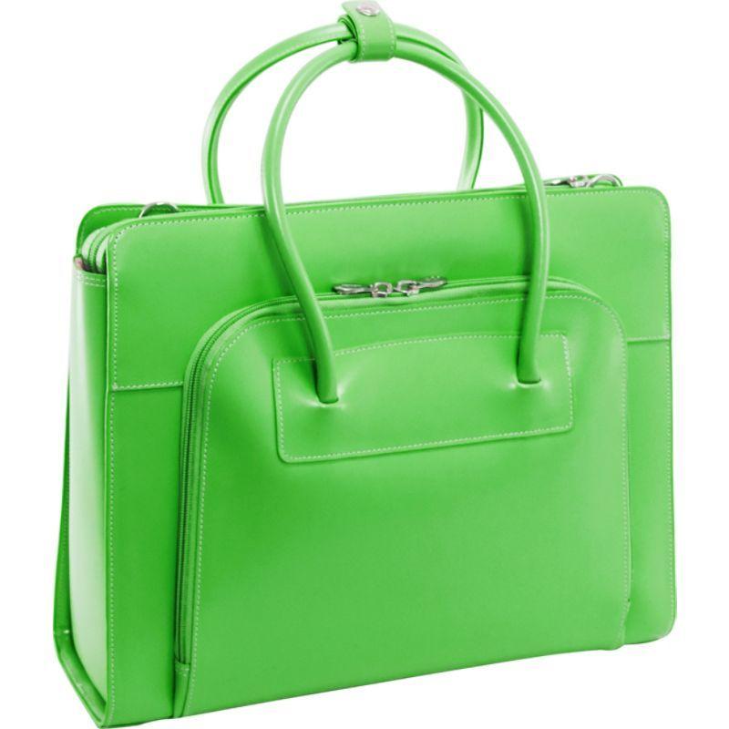 マックレイン レディース スーツケース バッグ W Series Lake Forest Leather Women's 15 Laptop Case Green