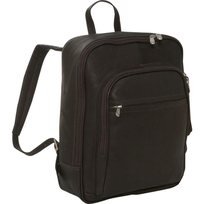 ピエール メンズ スーツケース バッグ Front Pocket Computer Backpack Chocolate