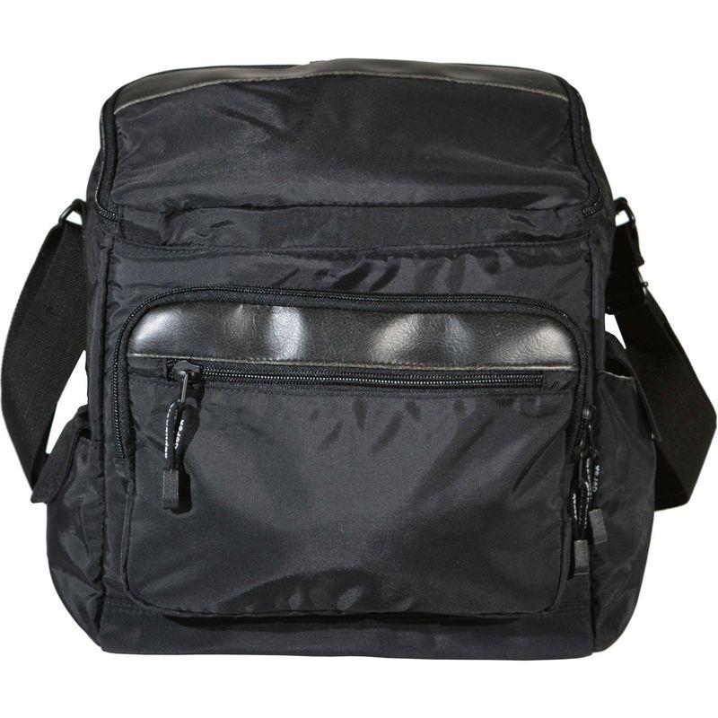 デレクアレクサンダー メンズ ボディバッグ・ウエストポーチ バッグ Top Zip Travel/School Crossbody Black