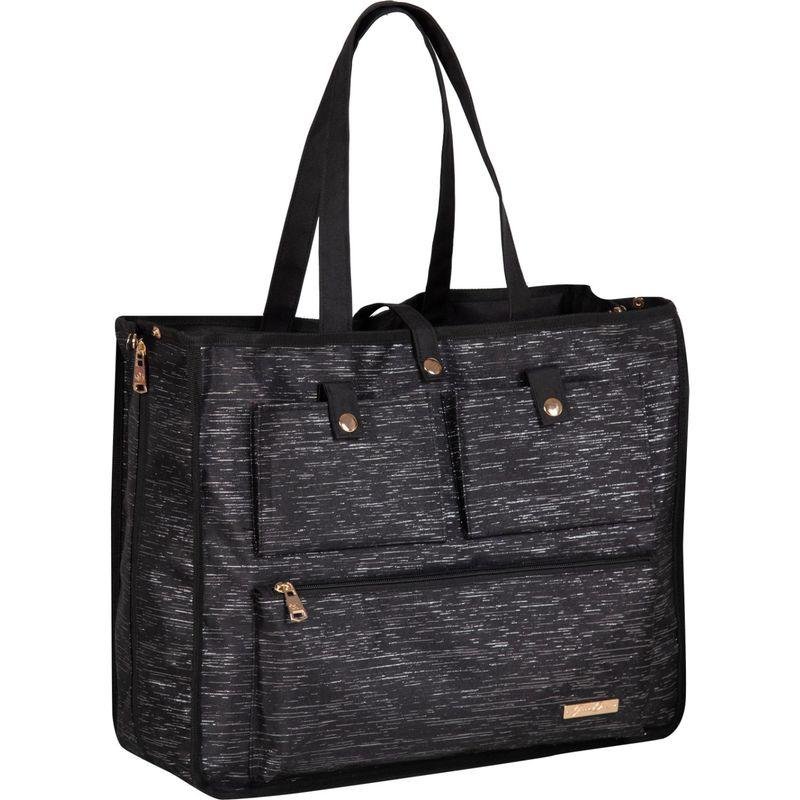 ジェニーチャン メンズ スーツケース バッグ Reversible 2-in-1 Carry-All Tote Black