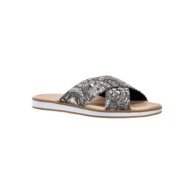 サックルーツ レディース サンダル シューズ Womens Calypso Platform Sandal 9 - Black & White Spirit Desert