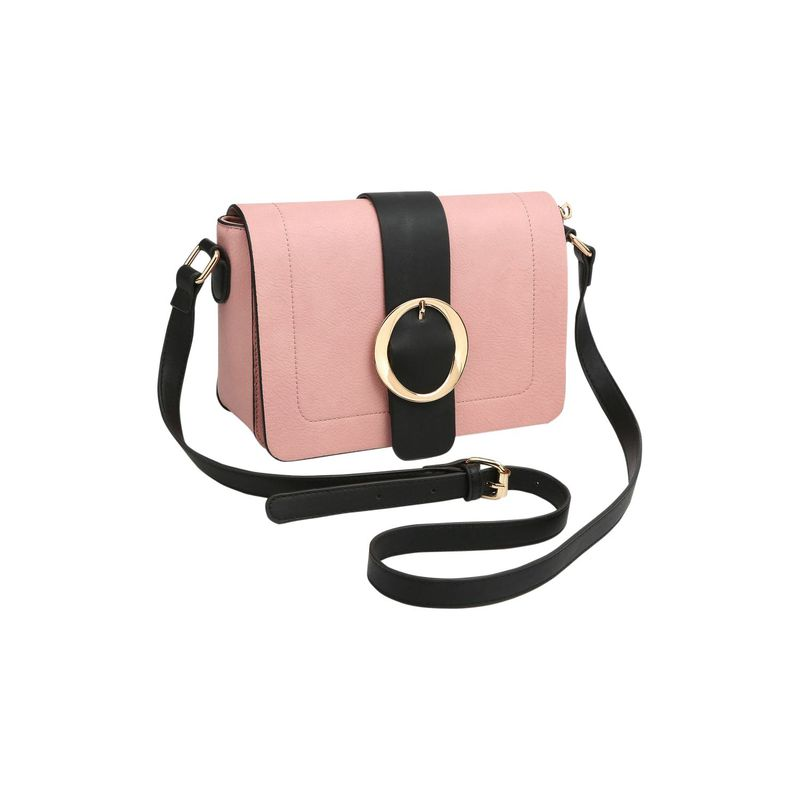 ダセイン メンズ ボディバッグ・ウエストポーチ バッグ Front Flap Buckle Design Crossbody Pink