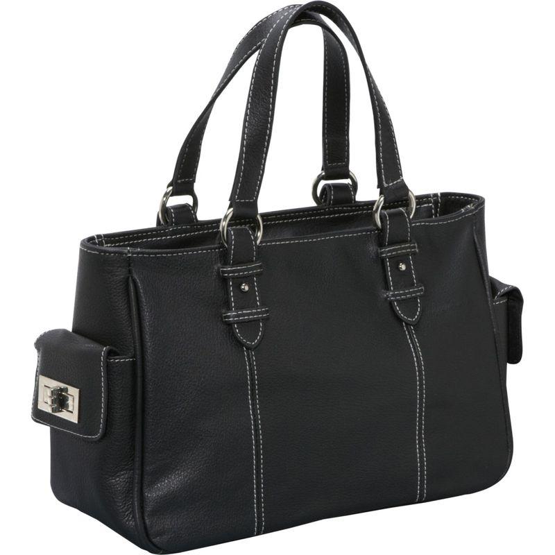 アメリ メンズ ハンドバッグ バッグ Sophisticated Leather Satchel Black