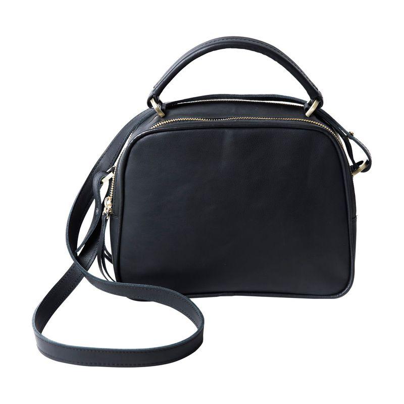 クレバ メンズ ボディバッグ・ウエストポーチ バッグ Sonoma Leather Double Zip Crossbody Sonoma Black