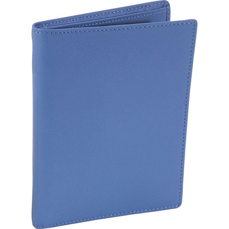ロイスレザー メンズ 財布 アクセサリー Passport Currency Wallet Royce Blue