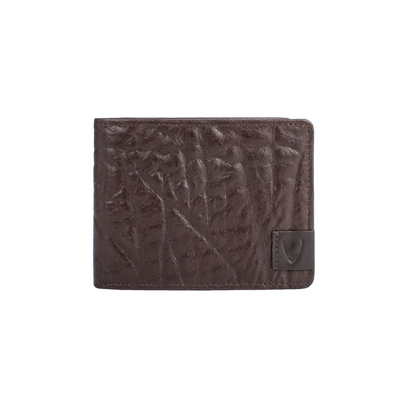 ハイデザイン メンズ 財布 アクセサリー Elephant RFID Blocking Trifold Leather Wallet Brown