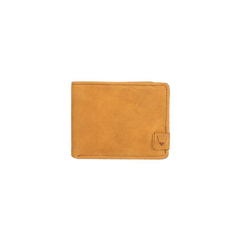 ハイデザイン メンズ 財布 アクセサリー Camel RFID Blocking Trifold Leather Wallet Tan