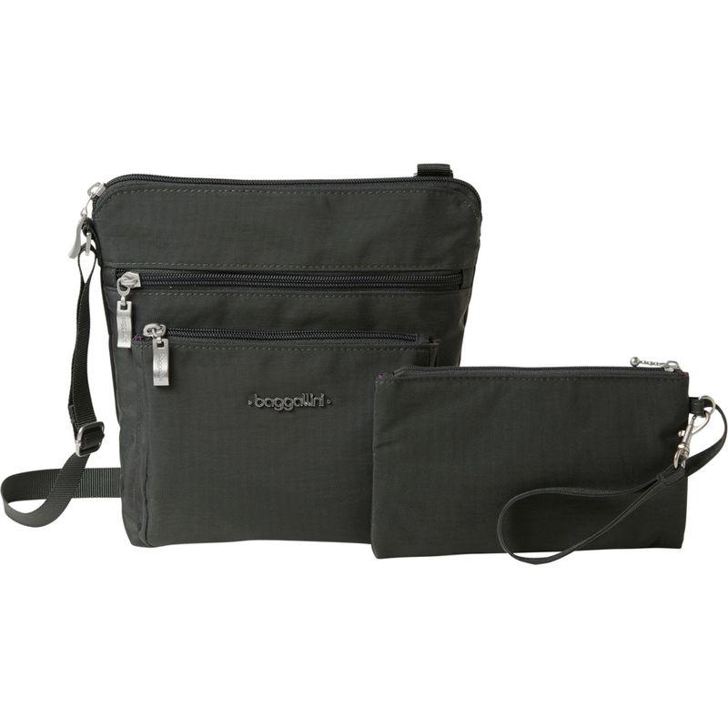 バッガリーニ メンズ ボディバッグ・ウエストポーチ バッグ Pocket Crossbody with RFID Charcoal/Fuschia