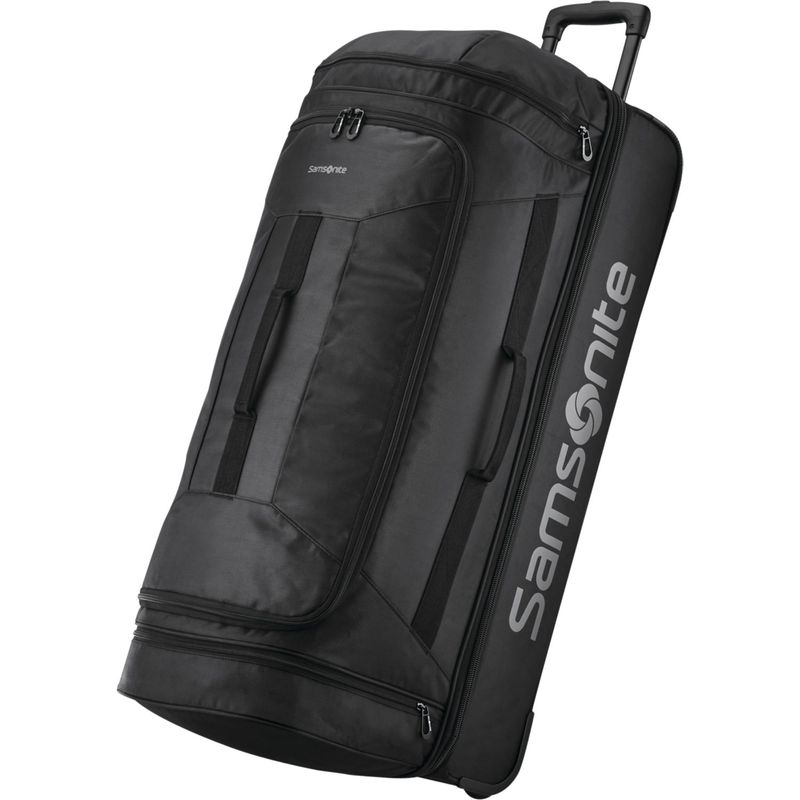 サムソナイト メンズ スーツケース バッグ Andante 2 32 Drop-Bottom Checked Wheeled Duffel All Black