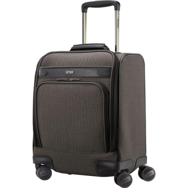 ハートマンラッゲージ メンズ スーツケース バッグ Herringbone Deluxe Carry-On Underseat Spinner Black Herringbone