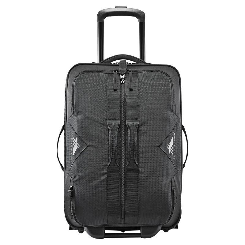 ハイシエラ メンズ スーツケース バッグ Dells Canyon Travel 22 Upright Carry-On Duffel Black/Black