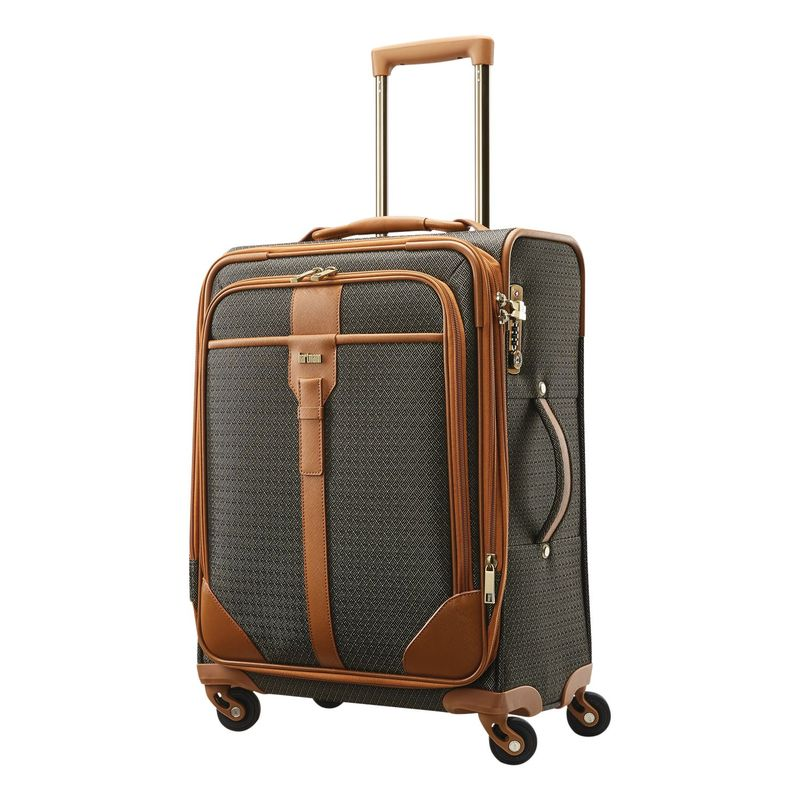 ハートマンラッゲージ メンズ スーツケース バッグ Luxe Carry-On Expandable Spinner Terracotta Jacquard