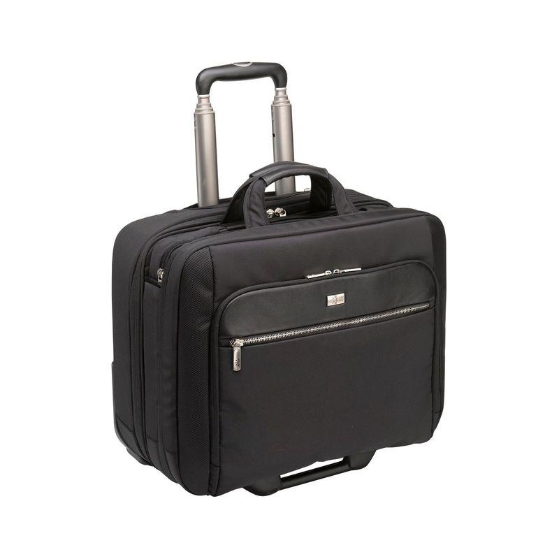 ケースロジック メンズ スーツケース バッグ 17 Security Friendly Rolling Laptop Case Black