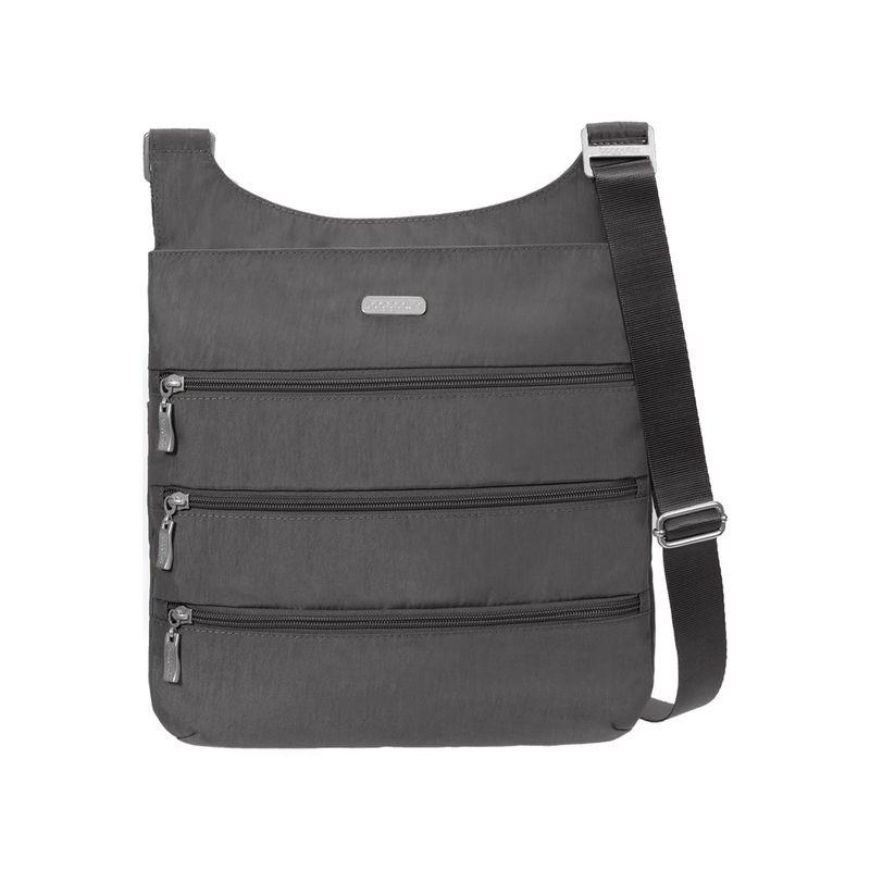 バッガリーニ メンズ ボディバッグ・ウエストポーチ バッグ Big Zipper Bagg with RFID Charcoal/Fuschia