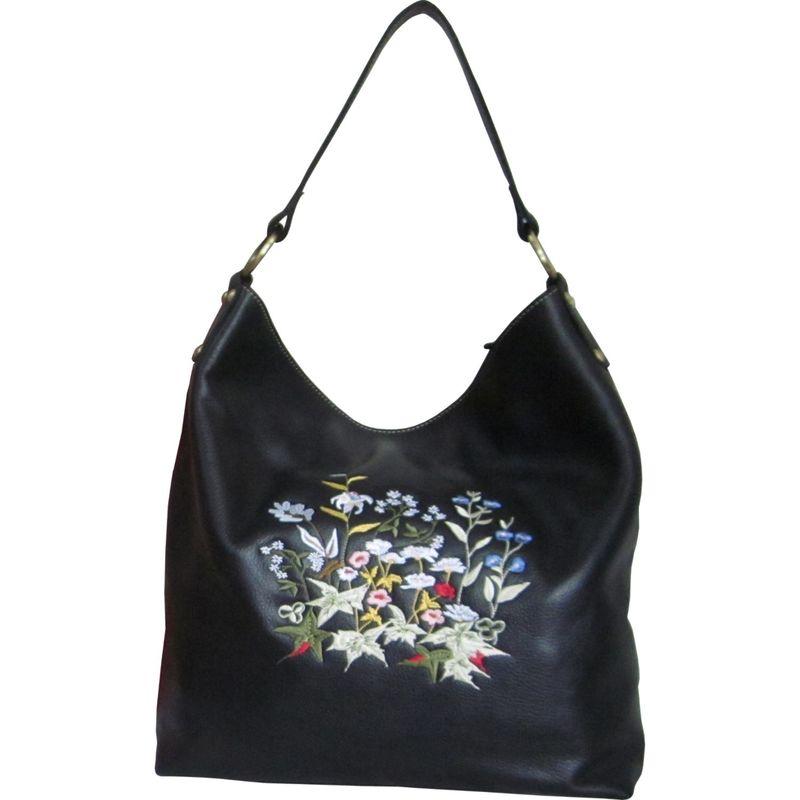 超歓迎された アメリ メンズ 価格 交渉 送料無料 ハンドバッグ バッグ Cynthia Floral Leather Hobo Black