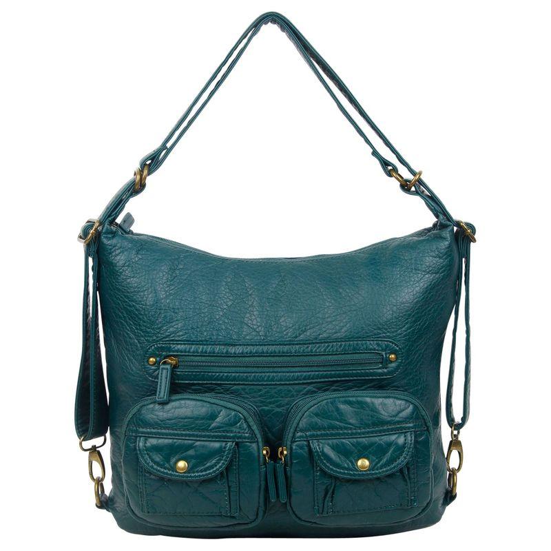 アンペレクリアーション メンズ ボディバッグ・ウエストポーチ バッグ Convertible Backpack Crossbody Purse Forest Green (FGN)