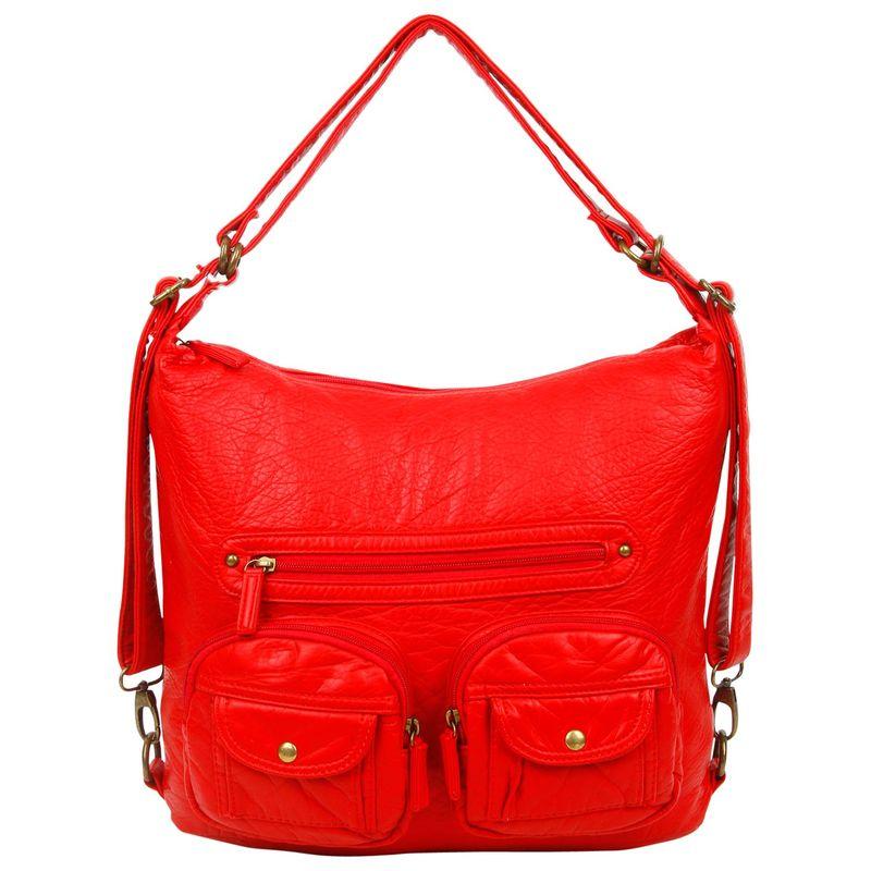 アンペレクリアーション メンズ ボディバッグ・ウエストポーチ バッグ Convertible Backpack Crossbody Purse Red