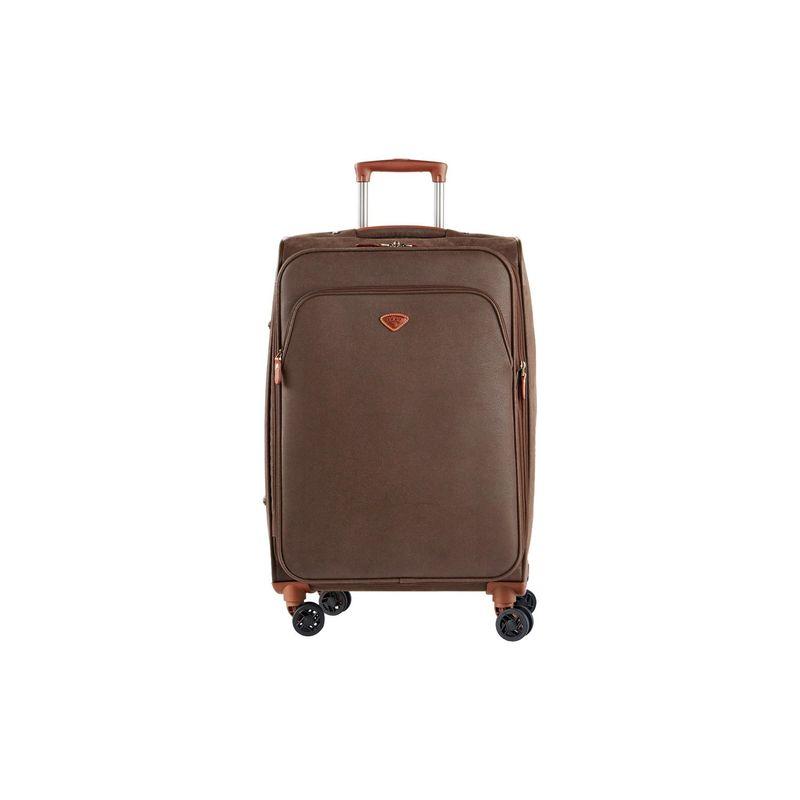 ジャンプ メンズ スーツケース バッグ Uppsala Medium Expandable Spinner Suitcase Chocolate