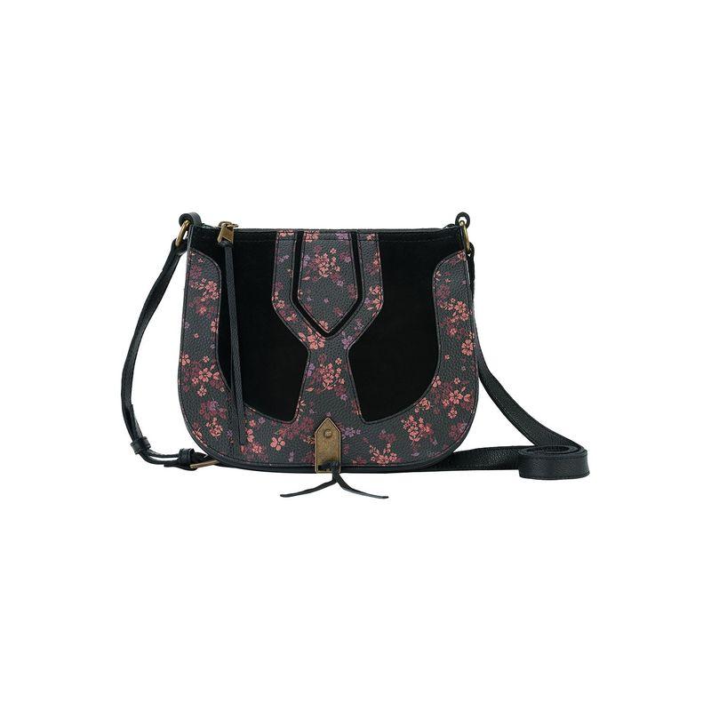 ザサック メンズ ボディバッグ・ウエストポーチ バッグ Playa Saddle Bag Black Folk Floral