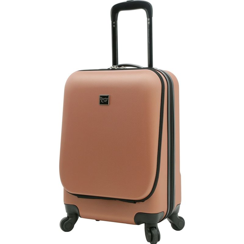 トラベラーズクラブ メンズ スーツケース バッグ Alise Hardside Carry-On with Padded Laptop Compartment Rose Gold