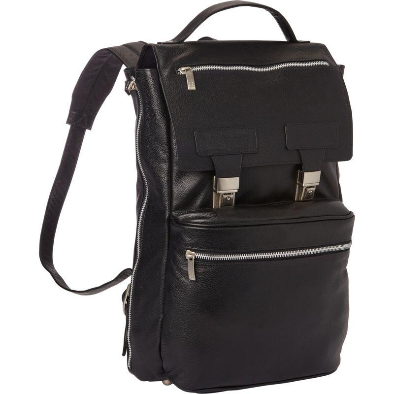 ピエール メンズ スーツケース バッグ Leather Vertical Backpack Black
