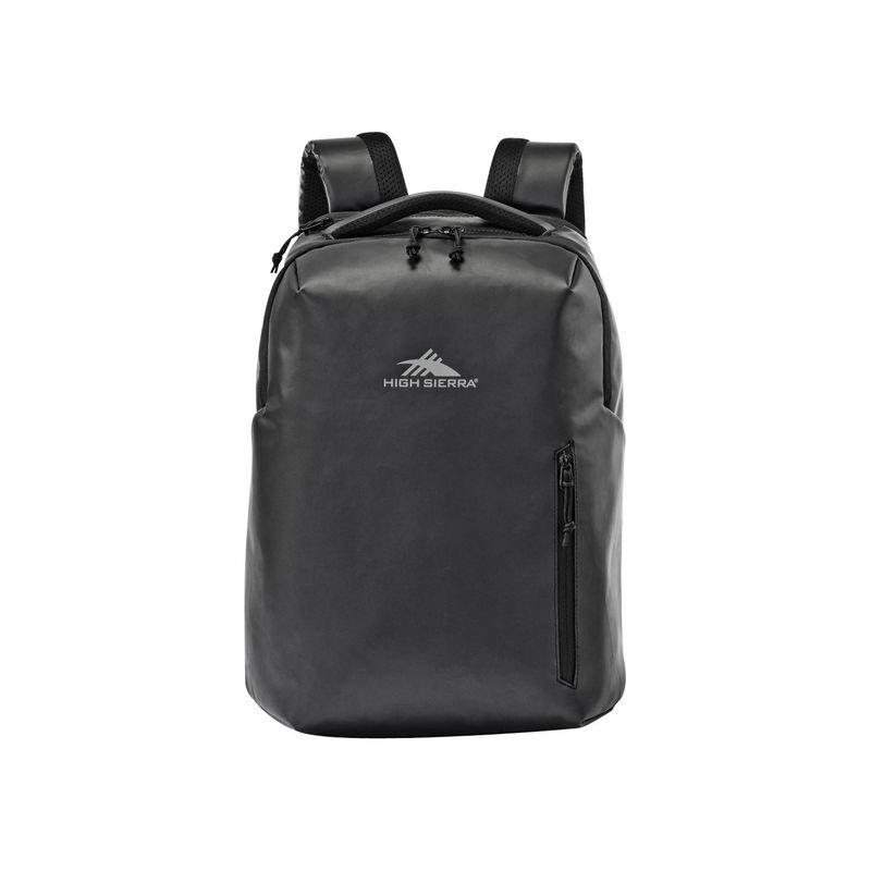 ハイシエラ メンズ バックパック・リュックサック バッグ Rossby Coated Daypack Black/Black