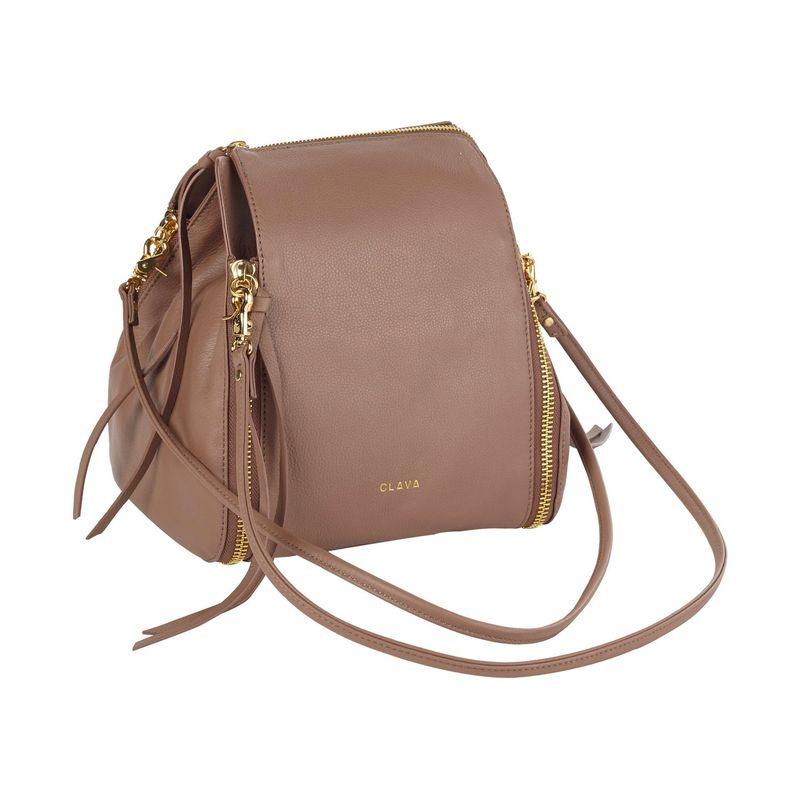 クレバ メンズ ショルダーバッグ バッグ Modern Leather Bucket Shoulder Bag Grey