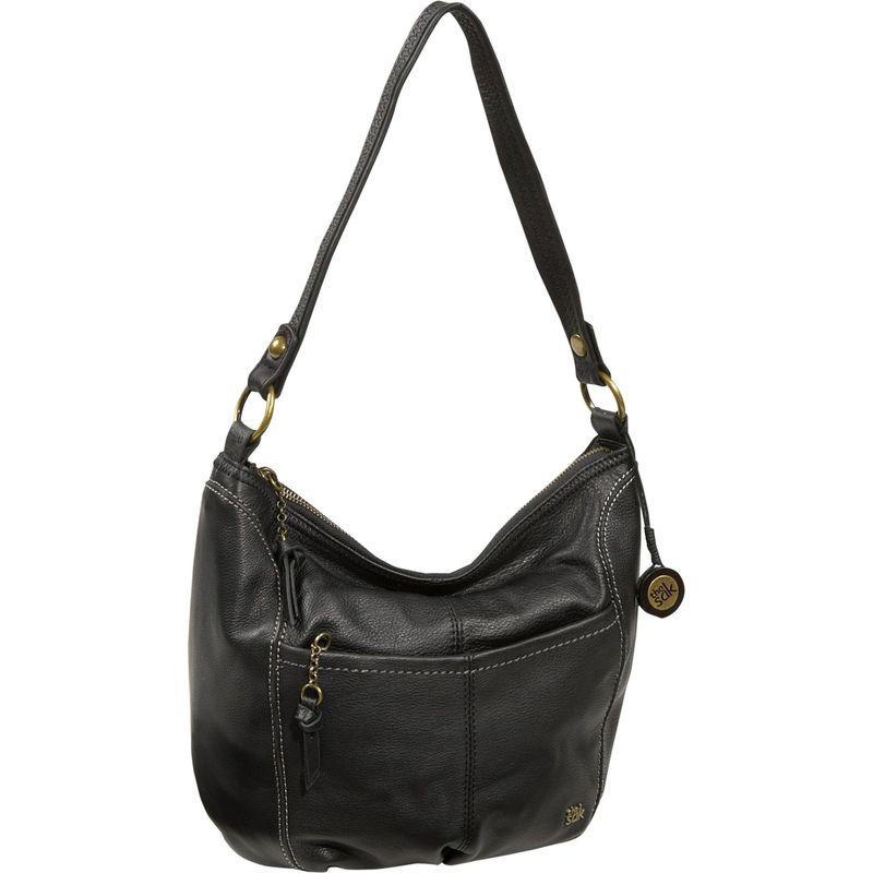 ザサック メンズ ハンドバッグ バッグ Iris Large Hobo Shoulder Bag Black