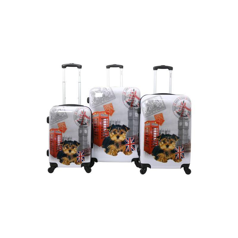 シャリオット メンズ スーツケース バッグ UK 3 Pc Hardside Spinner Set UK