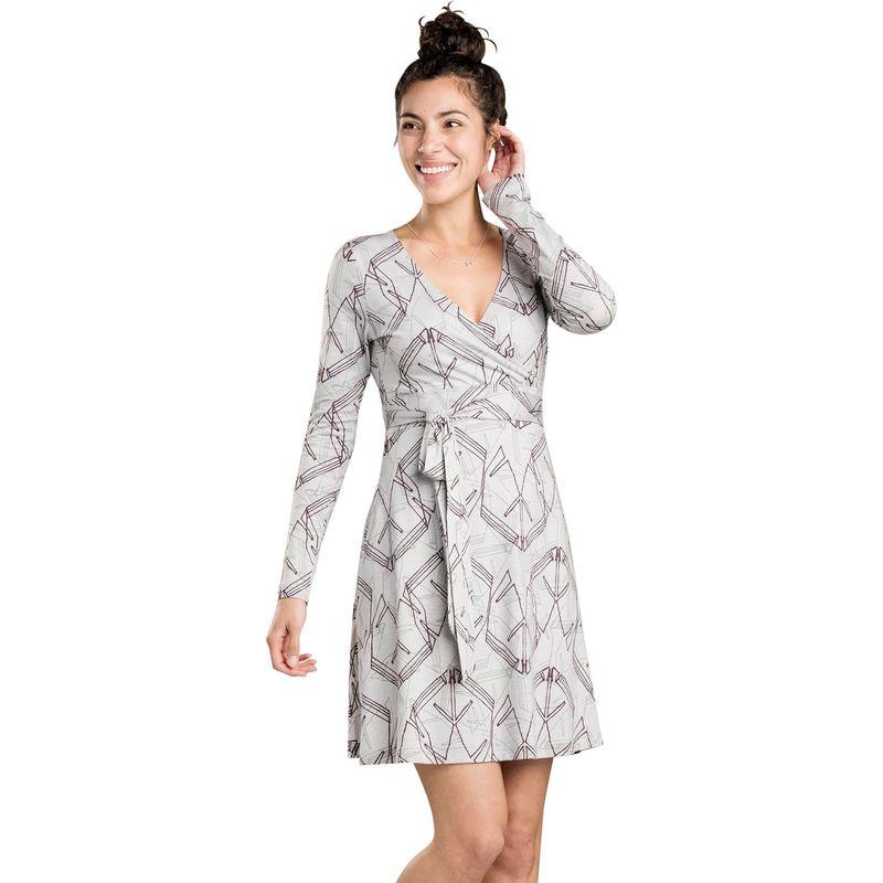 トードアンドコー レディース ワンピース トップス Womens Cue Wrap Long Sleeve Dress XS - Chrome Yard Sale Print